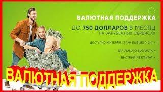 ВАЛЮТНАЯ ПОДДЕРЖКА до 750 долларов в месяц (Александр Ханин)